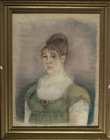 The framed portrait of Mary Raymond Underhill